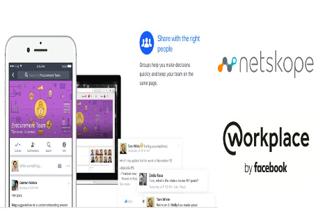 Interfaz de Netskope, el  Workplace by Facebook.